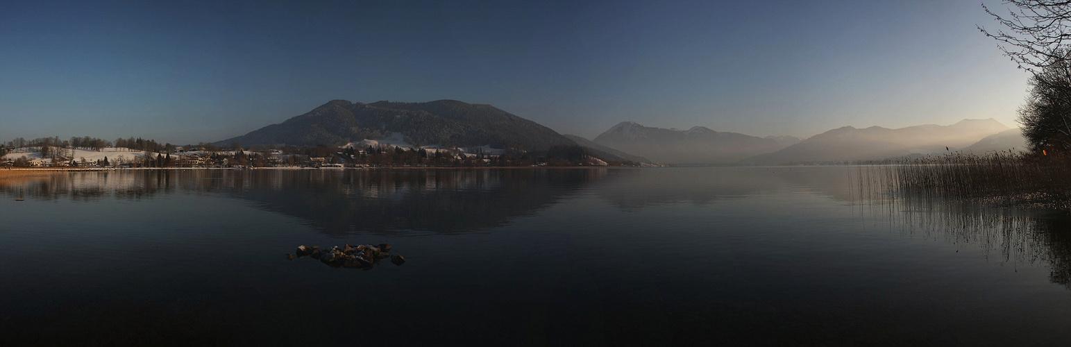 Traumhaftes Winterlicht am Tegernsee