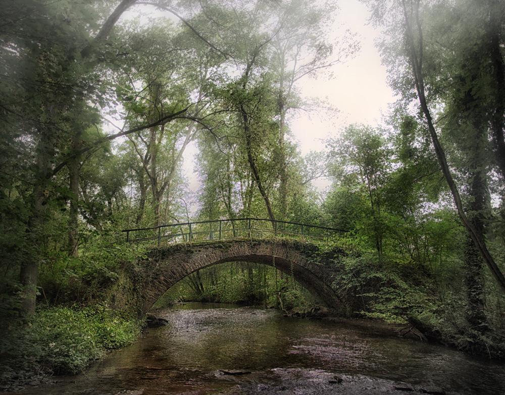 Traumpfade --- Eltzer Burgpanorama...romantische Klinkerbrücke