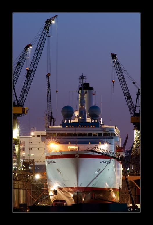 Traumschiff auf dem Trockenen