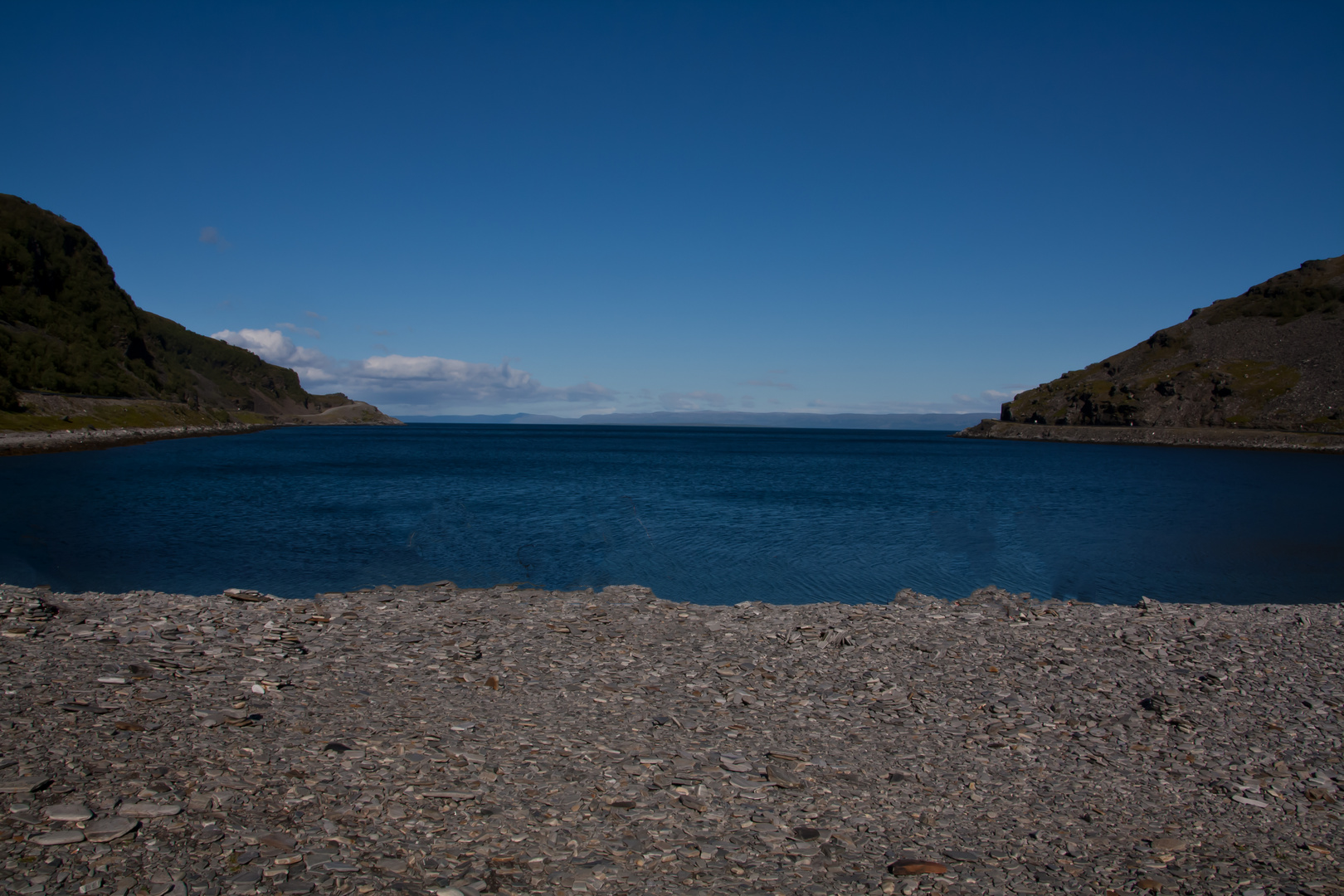 Traumwetter am Porsangenfjord