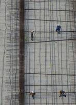 Travail avec equerre: le chantier