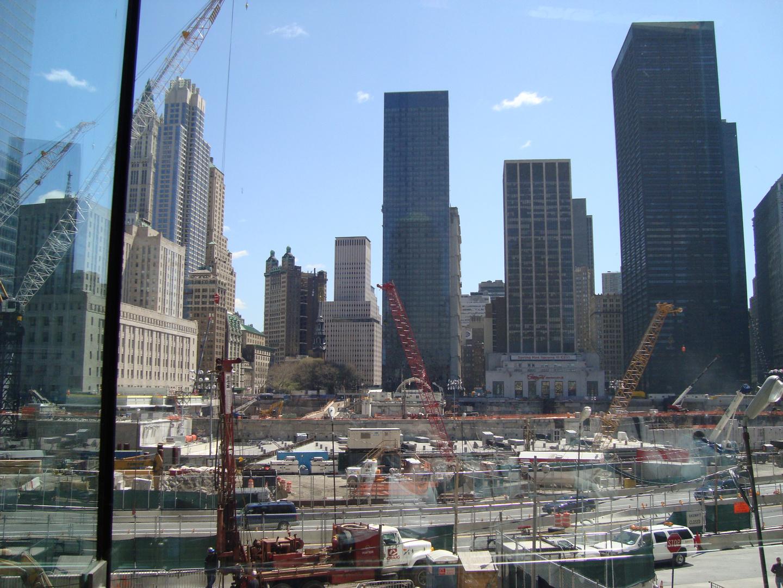 Travaux sur Ground Zero en Avril 2008