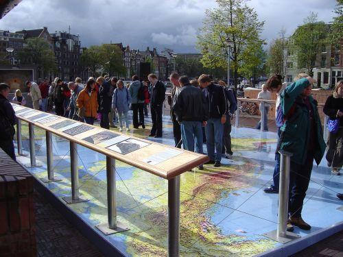 Travelling at an exhibition of Aarhus in Amsterdam