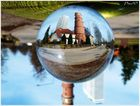 Travemünde-Impressionen in der Kugel - Alter Leuchtturm und MARITIM