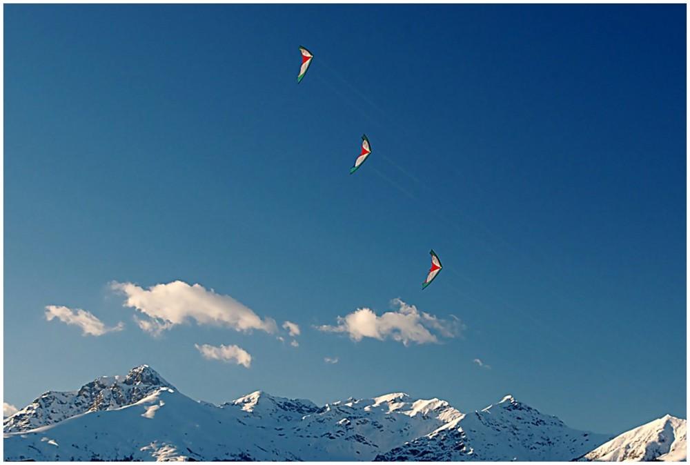 Tre Aquiloni sulle montagne.