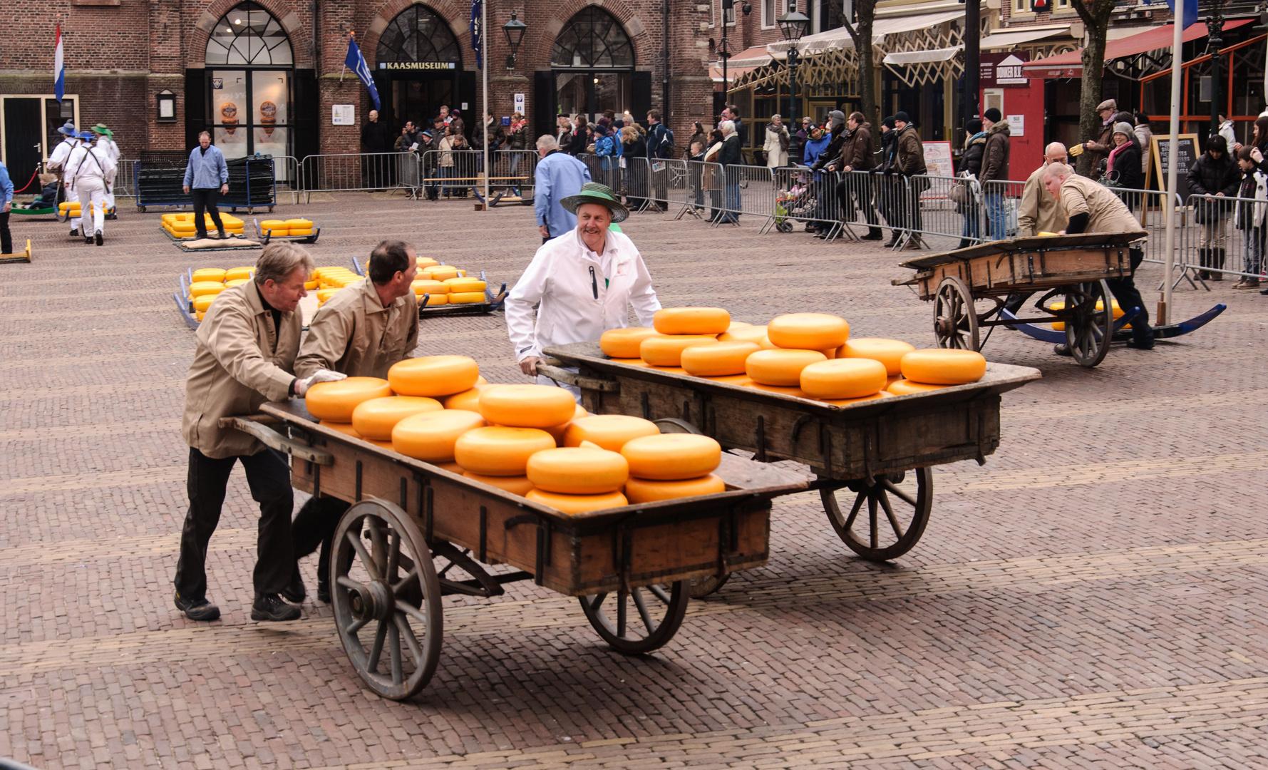 Treiben auf dem Alkmaarer Käsemarkt
