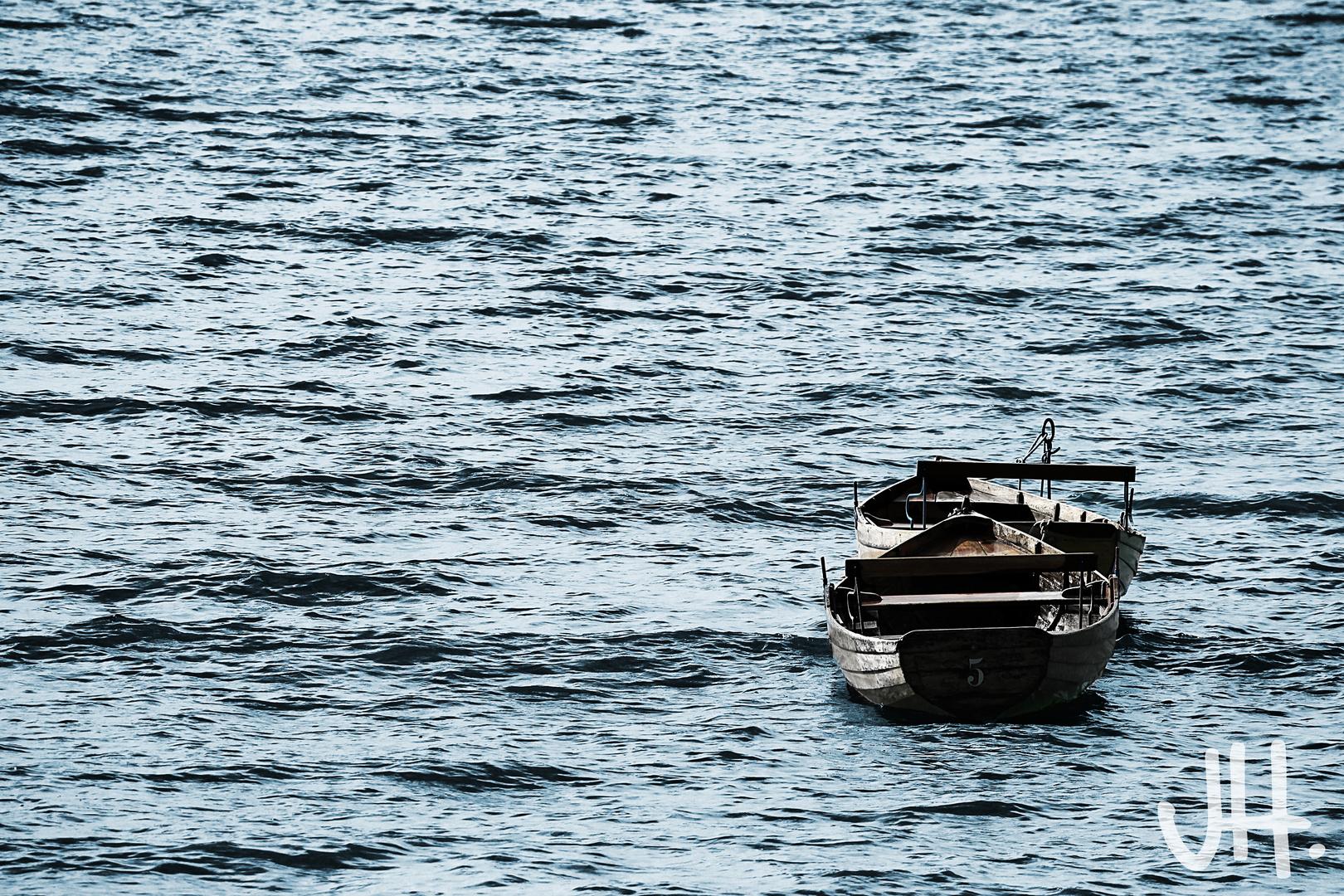 treibende Boote