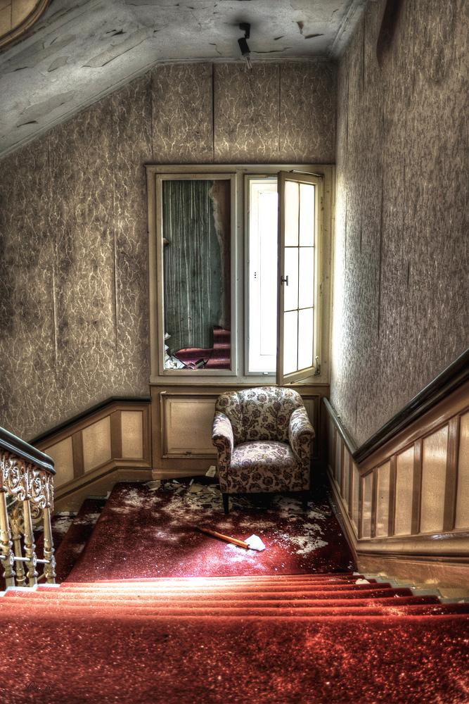 Treppe abwärts ...