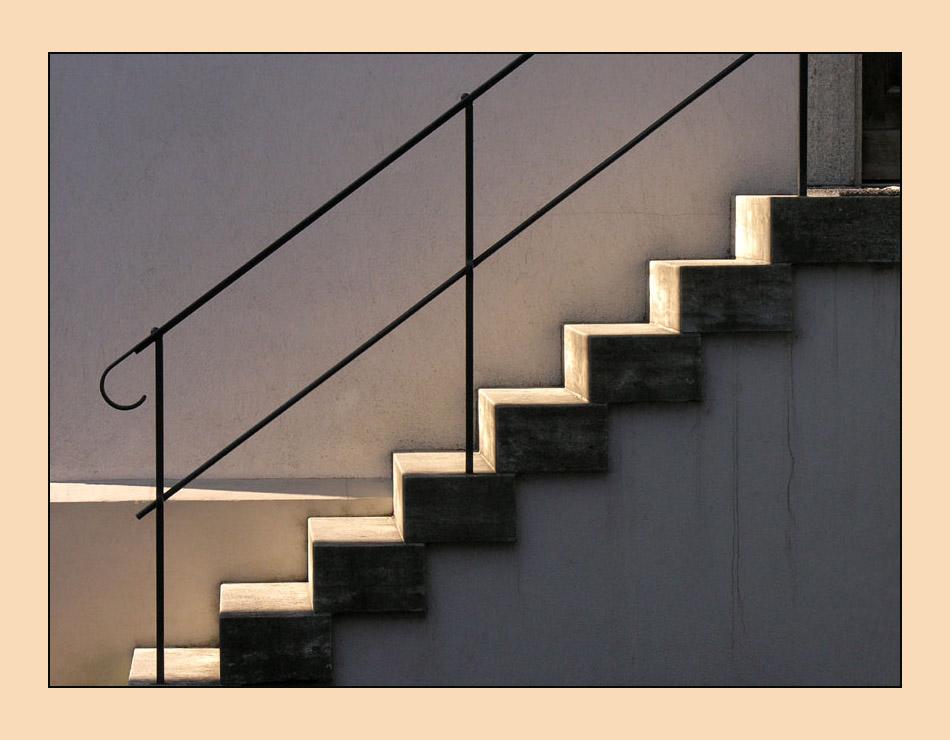 Treppe im Abendlicht