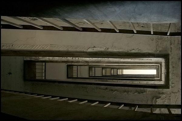 Treppe im Flughafen Tempelhof