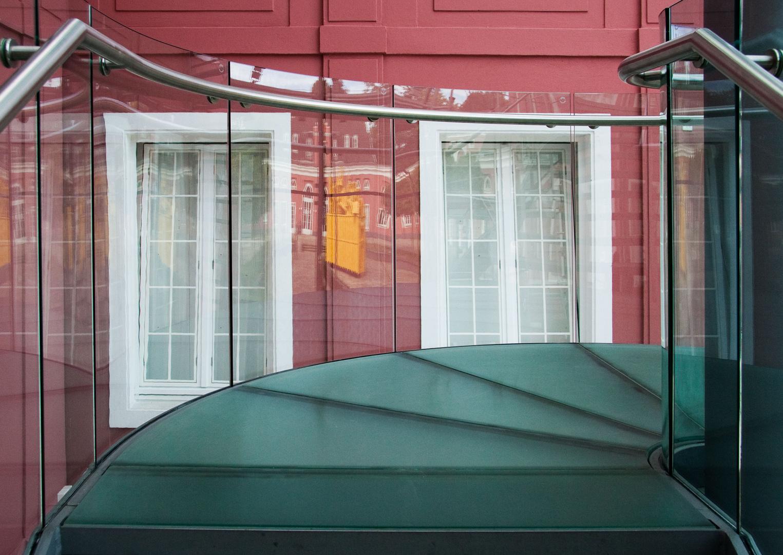 Treppe im Glashaus