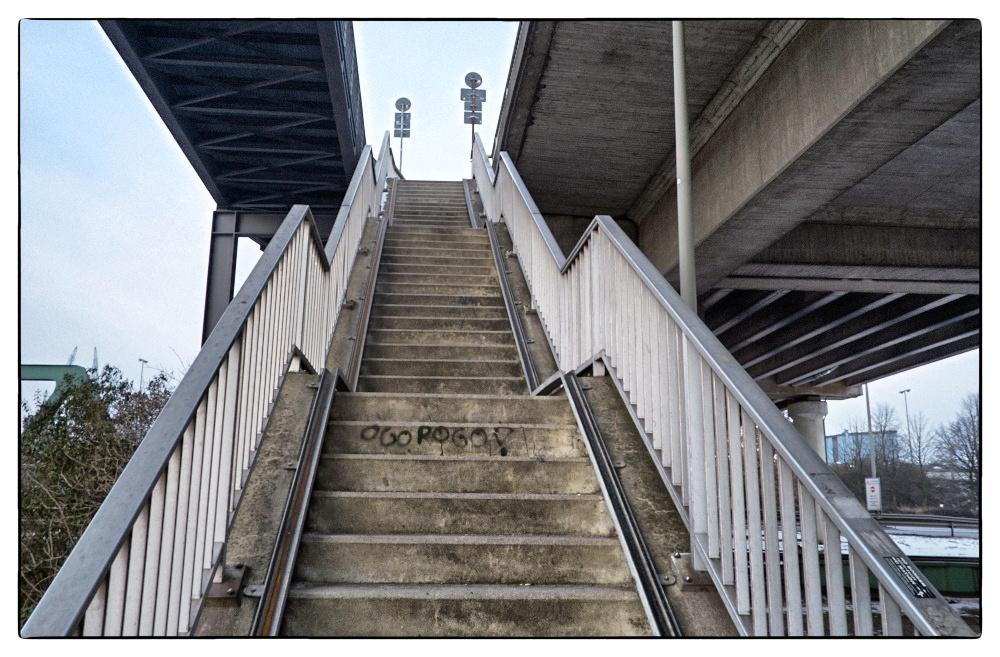 Treppe im Hamburger Hafen