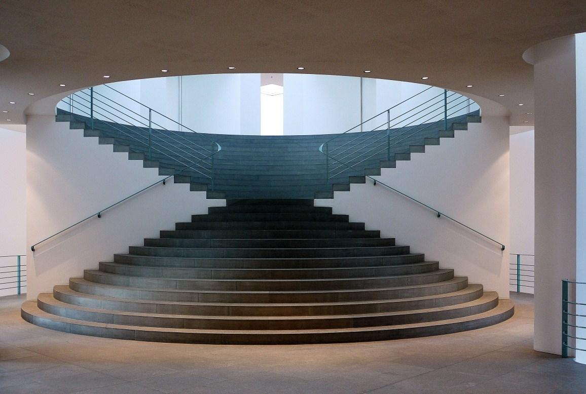 Treppe im kunstmuseum foto bild architektur treppen und treppenh user architektonische - Treppen architektur ...