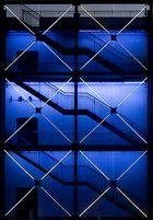 Treppe in blau