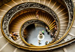Treppe in den Musei Vaticani