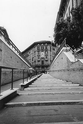 Treppe in der ewigen Stadt