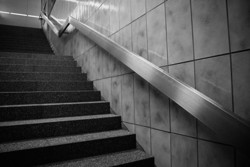 Treppe in der U-Bahn, nach unten oder nach oben ?