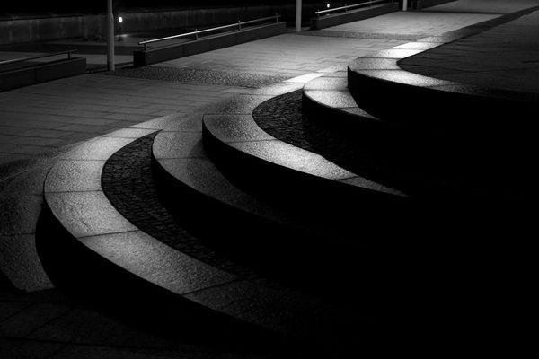 treppe, strandpromenade kühlungsborn