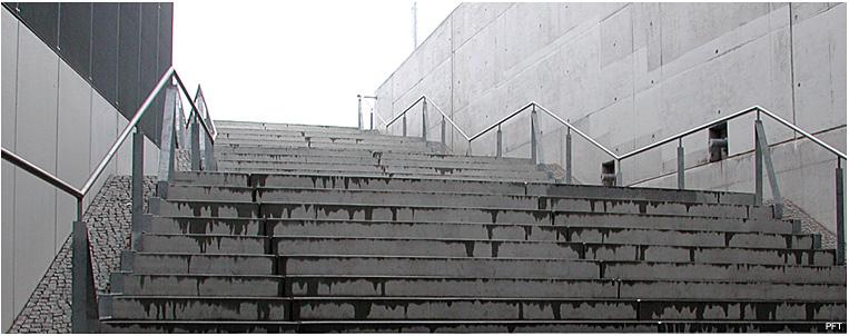Treppe, Versuch einer perspektivischen Aufnahme.