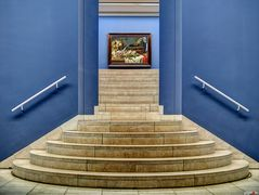 Treppe zum Bild