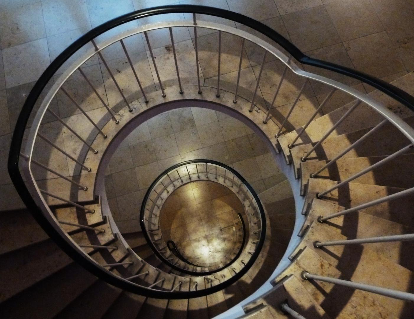 Treppe zum Café