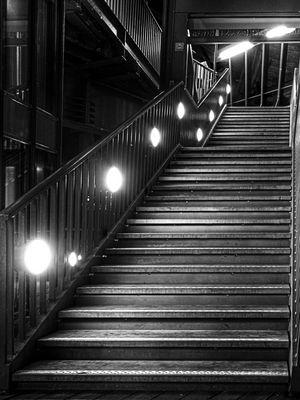 Treppe zum Dahinschweben