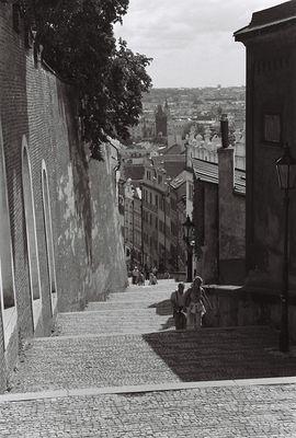 Treppe zum Praha schloß