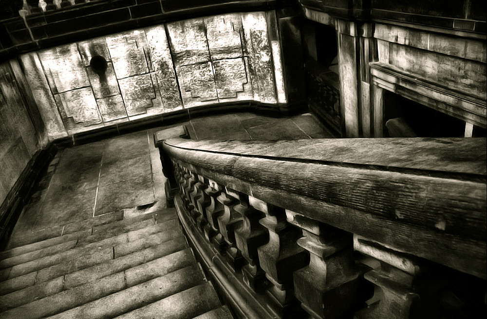 Treppe zum Untergeschoss des Dreasdner Zwingers