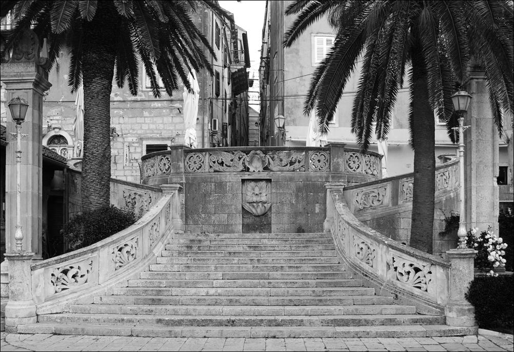 Treppe zur Altstadt von Korcula