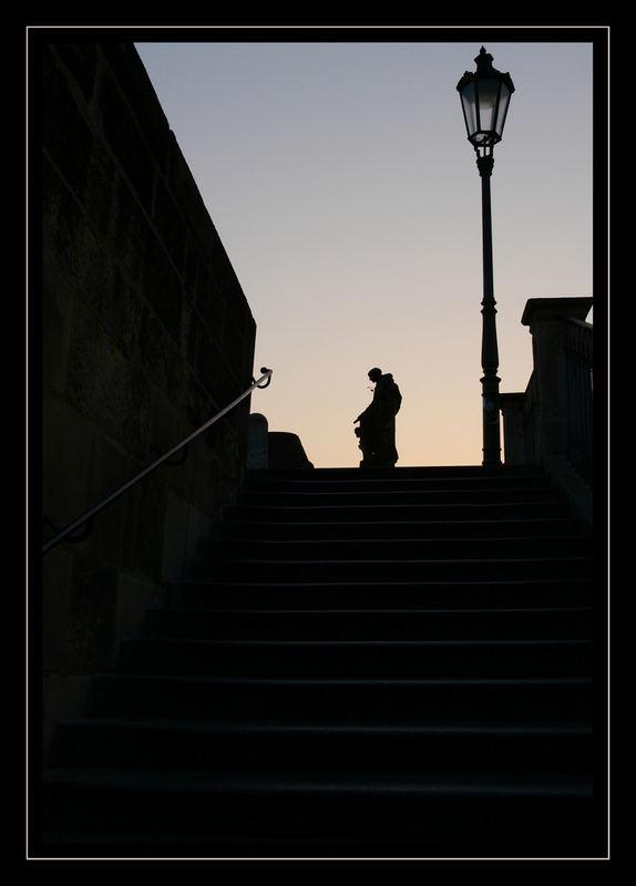 Treppe zur Karlsbrücke