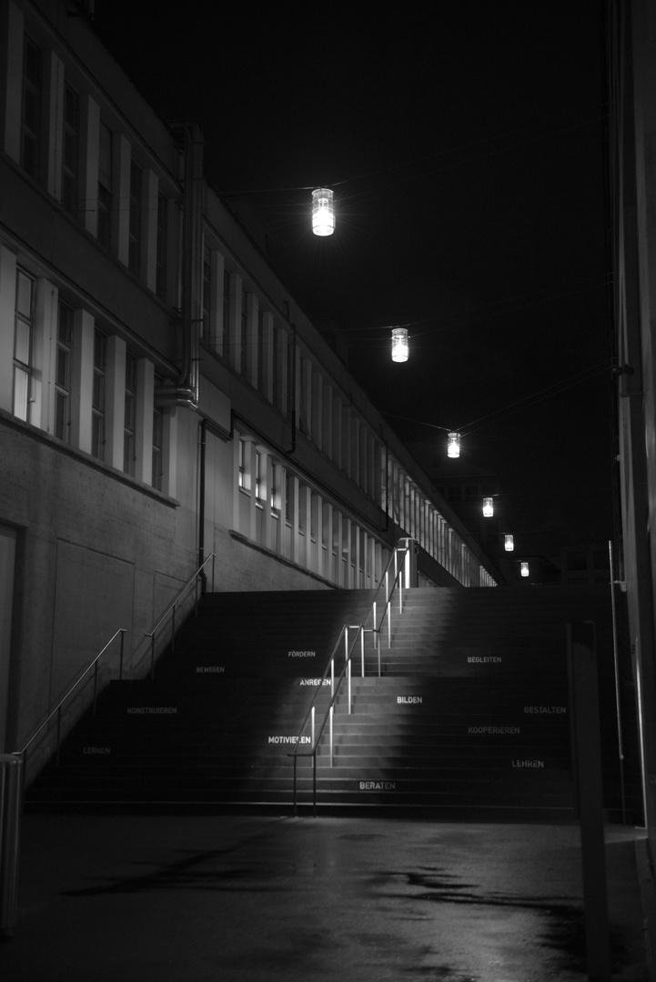 Treppe zur PH Zürich