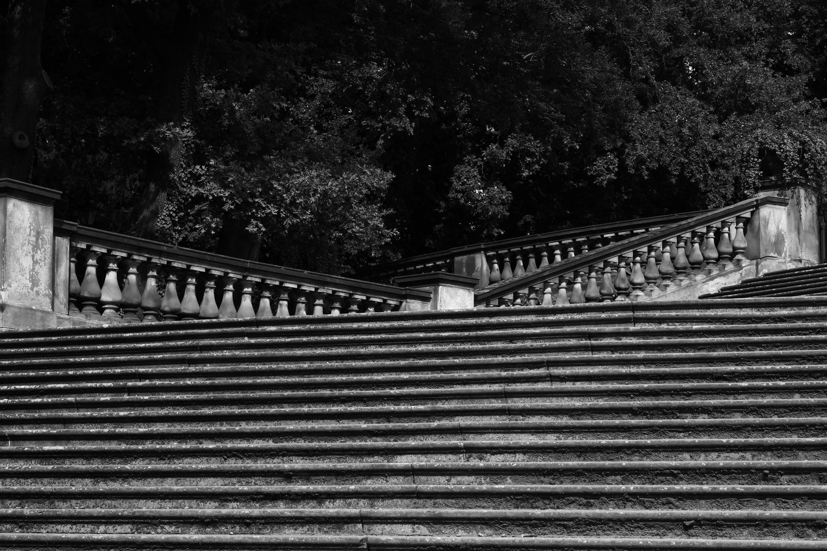 Treppen im Sans Souci Park