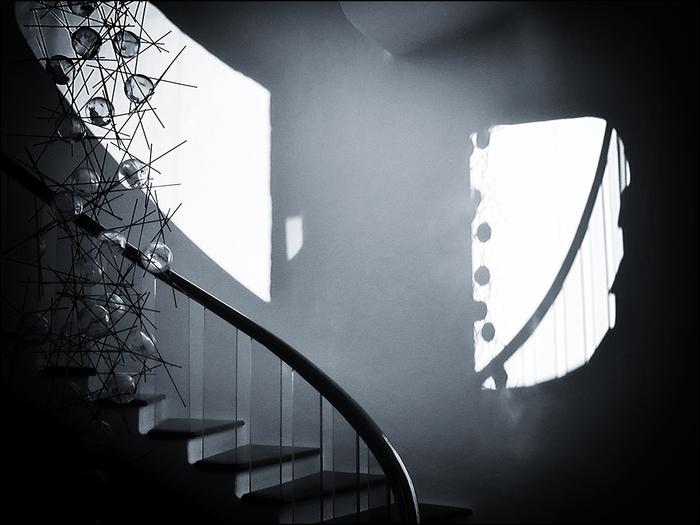 Treppenaufgang im Kaktusgarden