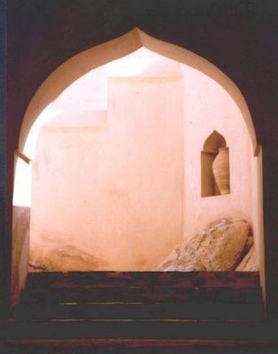 Treppenaufgang zu einem omanischen Fort
