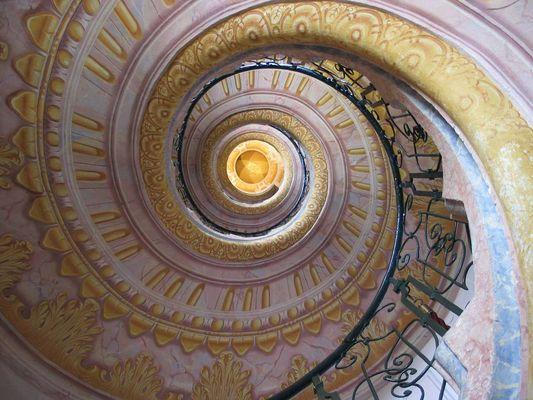 Treppenhaus in dem Kloster Melk