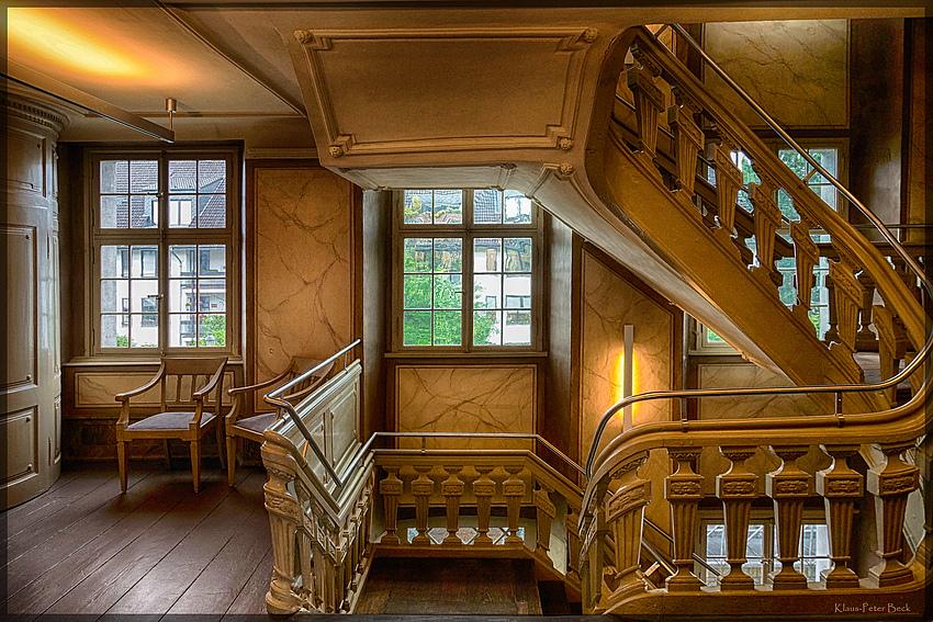 Treppenhaus in der Villa Cromford