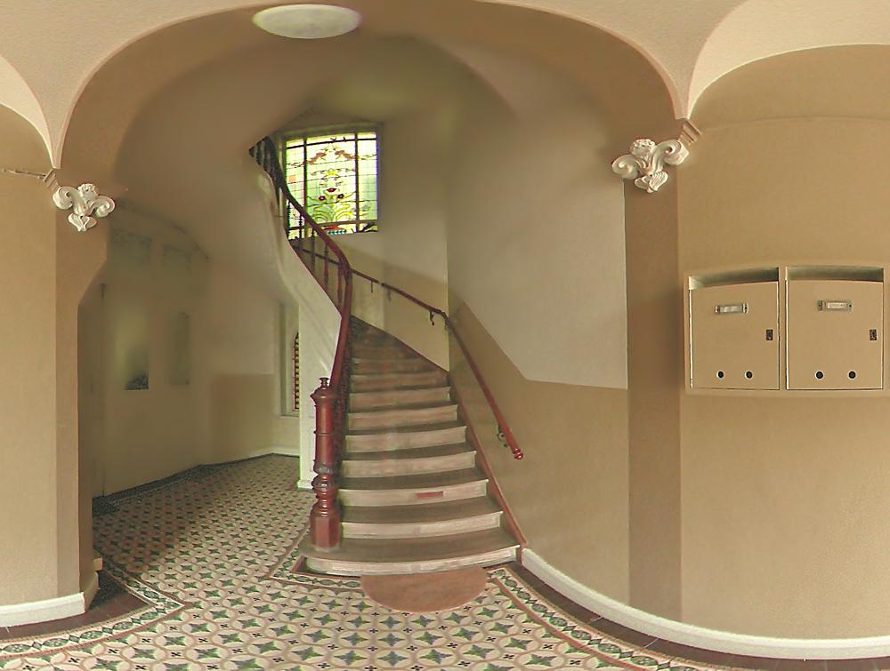 Treppenhaus farbgestaltung  Treppenhaus (Jugendstil) Foto & Bild | architektur, treppen und ...