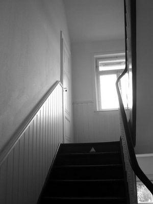 Treppenhaus mit Etagenklo