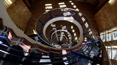 Treppenhaus mit Licht-Effekten