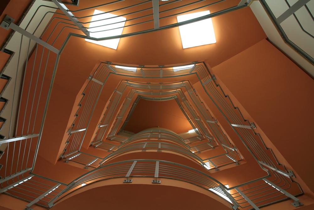 Treppenhaus von unten
