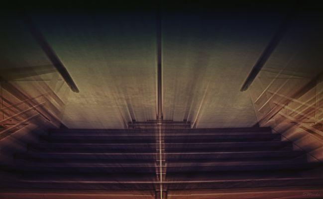 Treppenlichtstrahlen