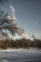 Treptower Karpfenteich mit Wolkenfabrik