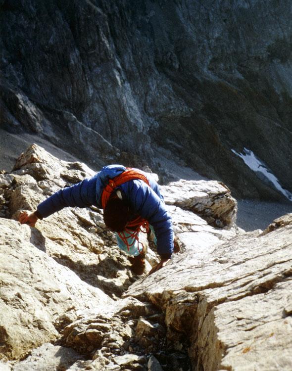 Trettachspitze, die letzten Meter