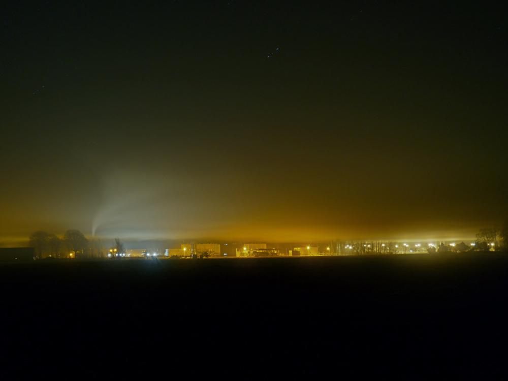 Trianel unter der Nebeldecke