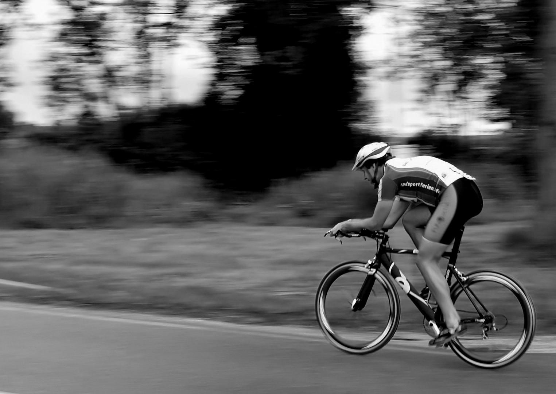 Triathlet - auf der Strecke