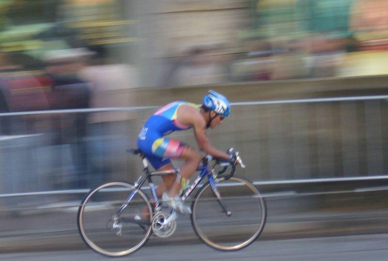 Triathlon Weltmeisterschaft Hamburg 2007 - Bewegungsunschärfe