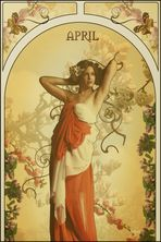 tribute to mucha -april
