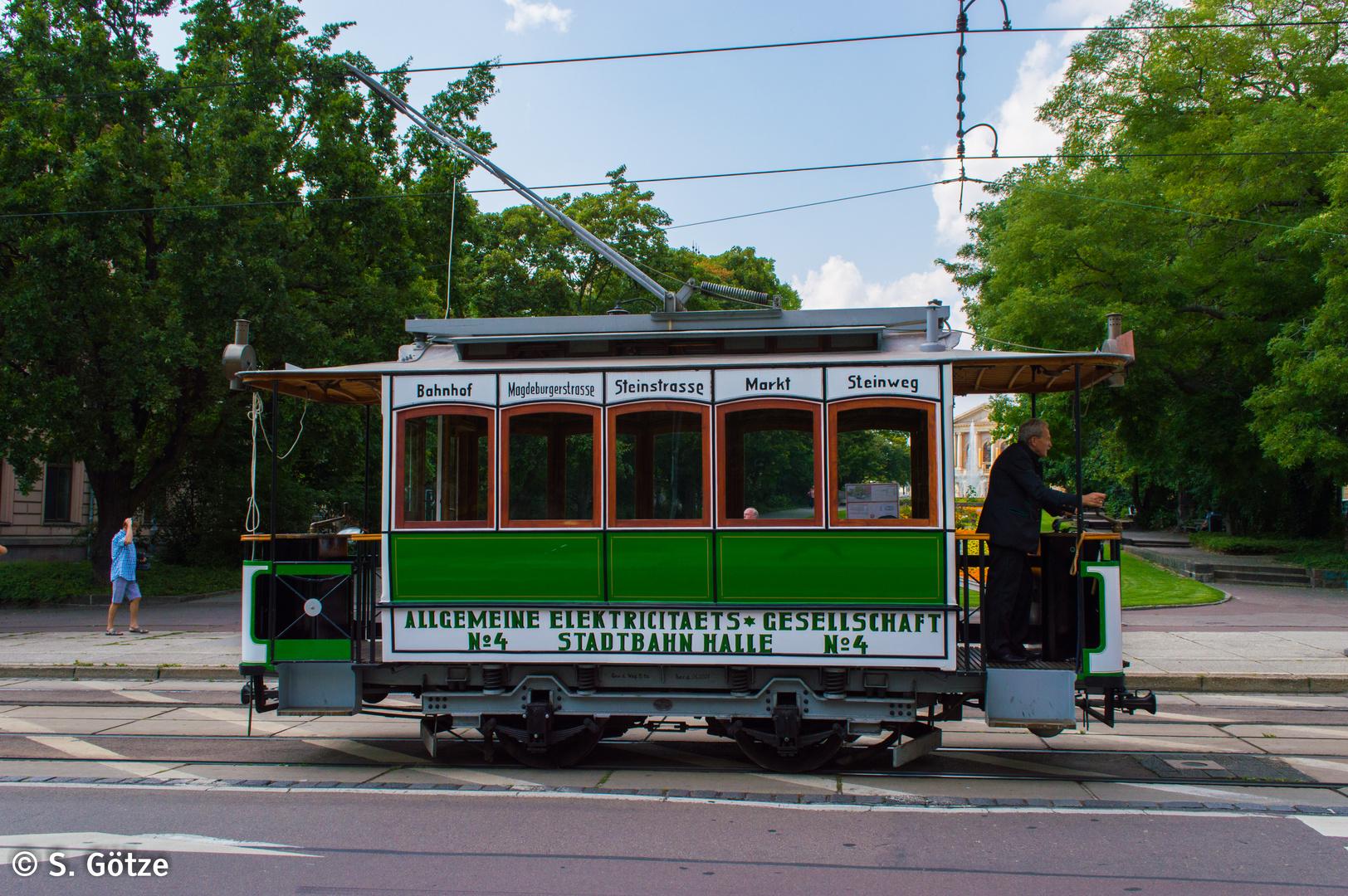 Triebwagen 4 der Halleschen Straßenbahnfreunde e.V.