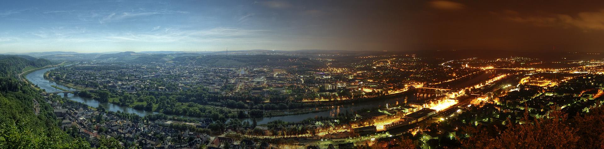 Trier - Von Tag zu Nacht Panorama