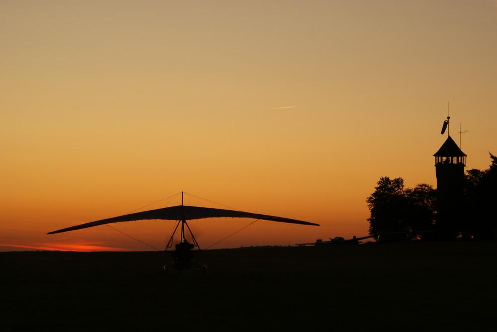 Trike beim Start kurz nach Sonnenaufgang
